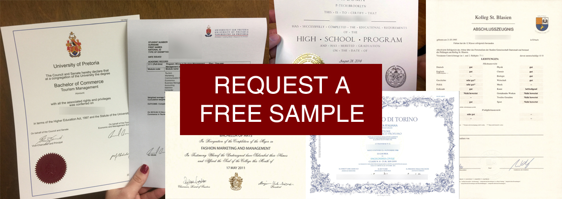 Realistic Fake Diplomas - Free Samples