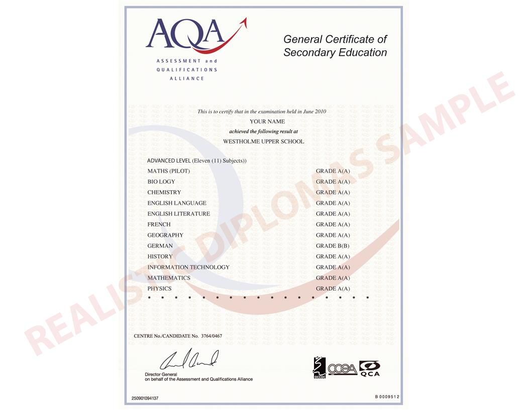 gcse certificate template - fake certificates image collections editable certificate