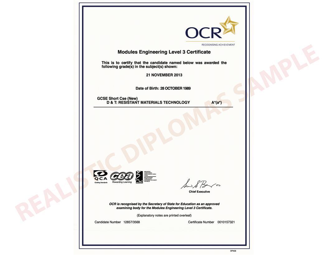Fake certificates choice image certificate design for Gcse certificate template