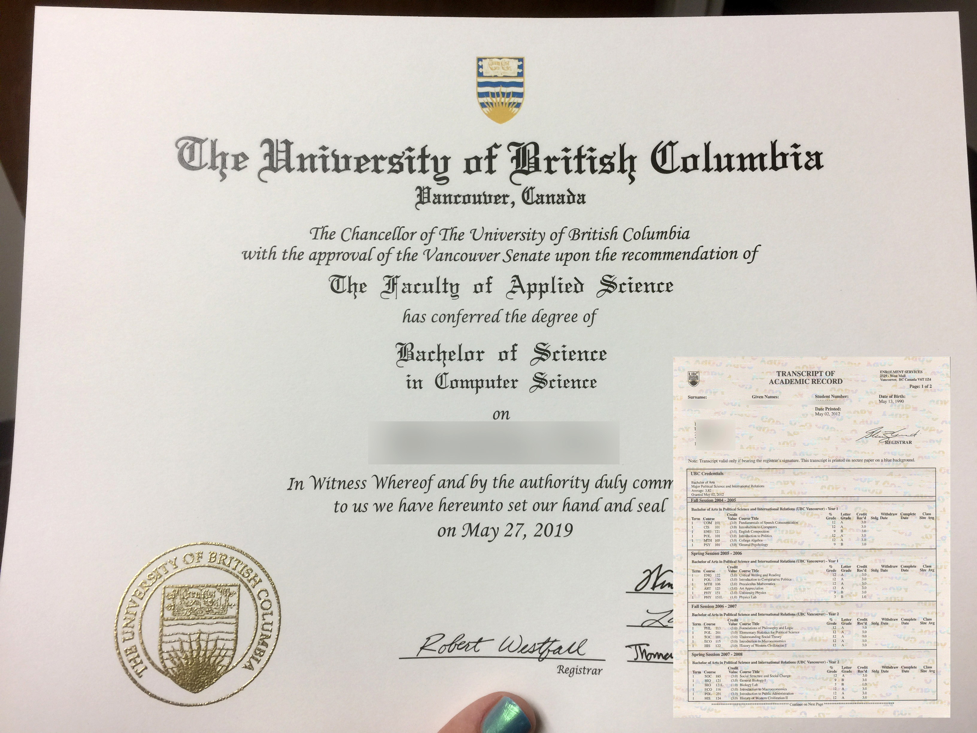 Match Replica Diploma ( Degree ) & Stock Transcripts Canada