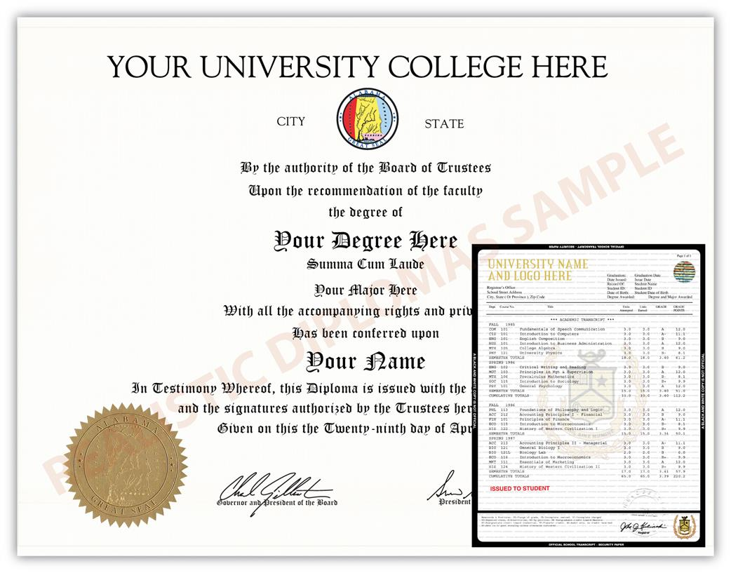 Incredible Fake College University Diploma And Transcript Design 1 Beutiful Home Inspiration Cosmmahrainfo