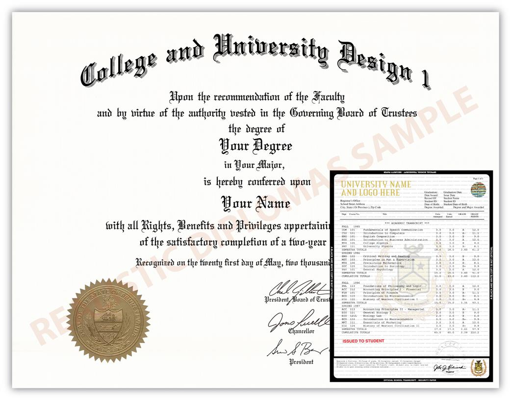 Fake College & University Diploma and Transcript Design 2a FAKE-COLLEGE-UNIVERSITY-DIPLOMA-TRANSCRIPT-2a