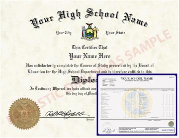 Fake High School Diploma and Transcripts Design 3 HSDT Design 3