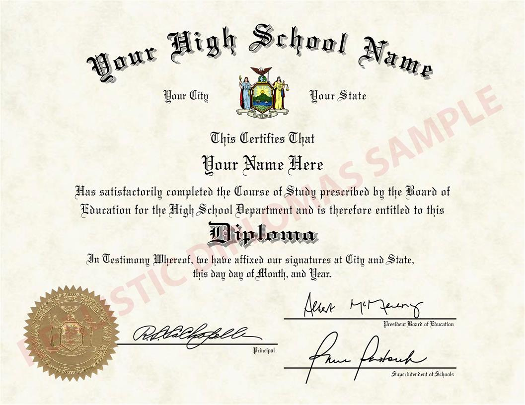 fake high school diploma