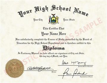 Fake High School Diploma Design 3 Design 3