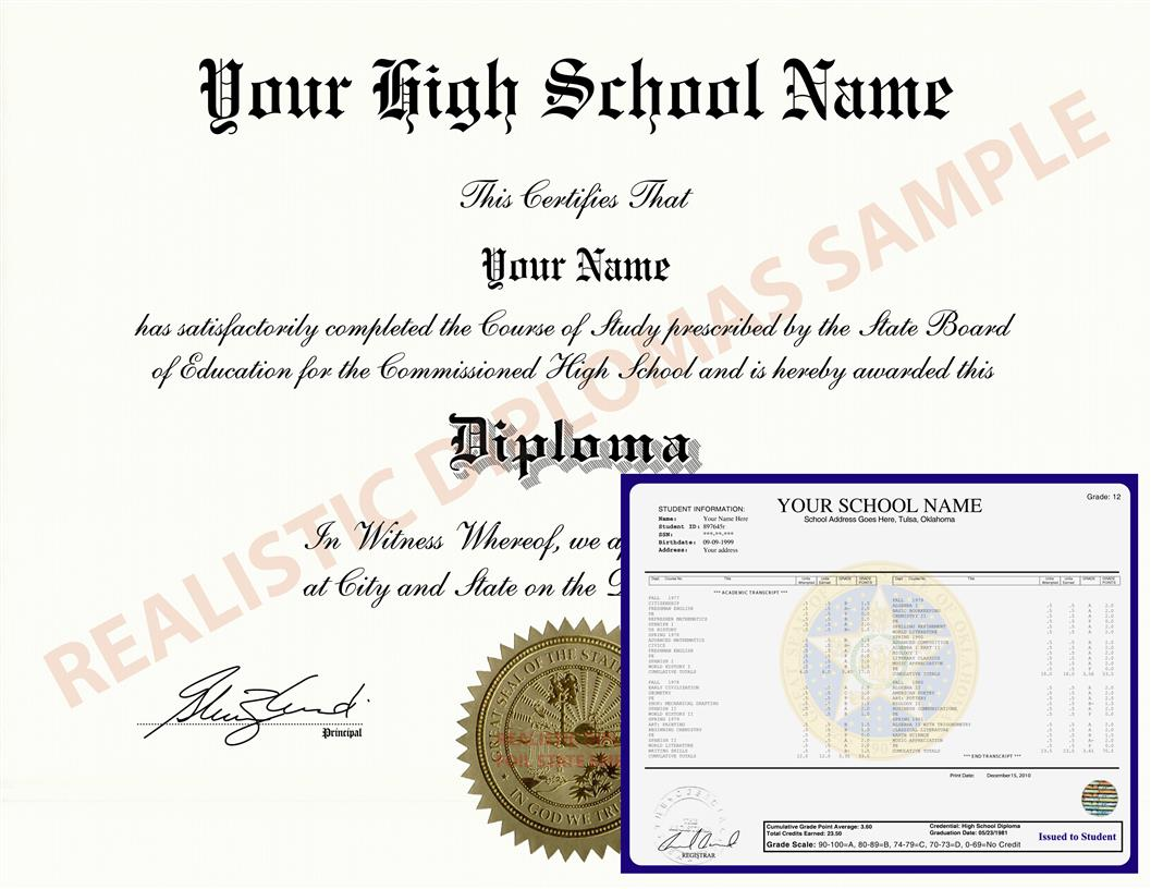 Fake High School Diploma and Transcripts Design 4 HSDT Design 4
