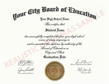 Fake High School Diploma Design 5 Design 5