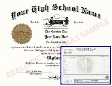 Fake High School Diploma and Transcripts Design 6 HSDT Design 6