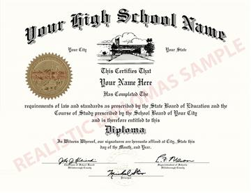 Fake High School Diploma Design 6 Design 6