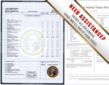 Fake Transcript Template | Fake High School Transcripts
