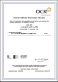 FAKE-CERTIFICATE-GCSE-OCR - Fake Certificate GCSE OCR
